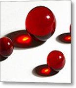 Marbles Red 2 Metal Print