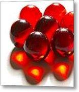 Marbles Red 3 C Metal Print