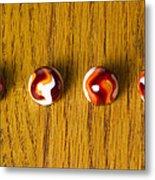 Marbles Red Orange Swirl 1 Metal Print