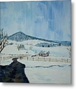 March Snow on Mole Hill - SOLD Metal Print