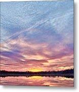 March Sunset At Whitesbog Metal Print