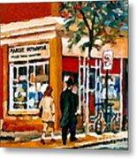 Marche Depanneur Storefront Paintings Authentic Montreal Art Prints Originals Commissions C Spandau Metal Print