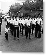 Marchers Number 1 100th Anniversary Parade Nogales Arizona 1980 Black And White  Metal Print