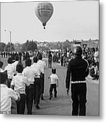 Marchers Number 2 100th Anniversary Parade Nogales Arizona 1980 Black And White  Metal Print