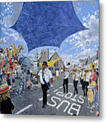 Marching Band, Brecon Jazz Festival, 1994 Oil On Board Metal Print
