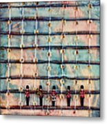 Marching Band Encaustic Metal Print