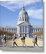 Marching By Metal Print