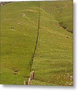 Marching Fence Metal Print