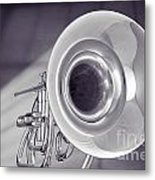 Marching French Horn Antique Classic In Sepia 3425.01 Metal Print