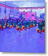 Marching In The Parade Metal Print