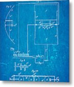 Marconi Radio Patent Art 1897 Blueprint Metal Print