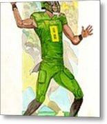 Marcus Mariota Oregon Ducks Rose Bowl Metal Print