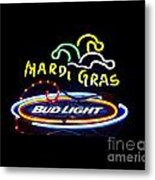 Mardi Gras And Bud Light Metal Print