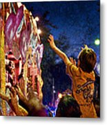 Mardi Gras At Night Metal Print by Ray Devlin