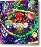 Mardi Gras Beads 1 Metal Print