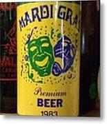 Mardi Gras Beer 1983 Metal Print