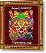 Mardi Gras Clown Style 1 Vector Sample Metal Print