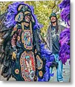 Mardi Gras Indian Metal Print