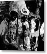 Mardi Gras Indians At The Gold Mine Saloon In New Orleans Metal Print