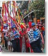 Mardi Gras In New Orleans Metal Print