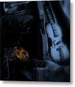 Mardi Gras Moon Metal Print