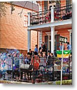 Mardi Gras Party On St Charles Ave New Orleans Metal Print