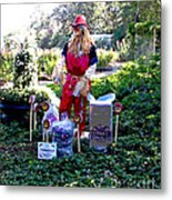 Mardi Gras Scarecrow At Bellingrath Gardens Metal Print