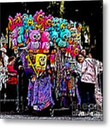 Mardi Gras Vendor's Cart Metal Print