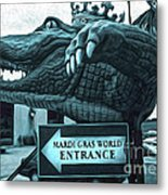 Mardi Gras World - Alligator Metal Print