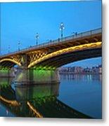 Margaret Bridge And The Parliament Metal Print