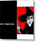 Margaret Hamilton Sketch Metal Print by Ann Kipp