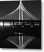 Margaret Hunt Hill Bridge Reflection Metal Print