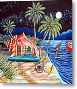 Margaritaville Conch Christmas Metal Print