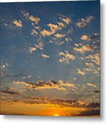 Margate Causeway Sunset Metal Print