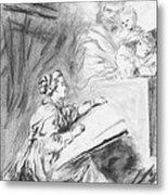 Marguerite Gerard Sketching Metal Print
