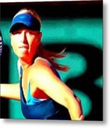 Maria Sharapova Tennis Metal Print