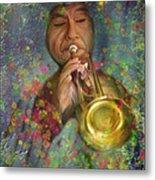 Mariachi Trumpet Player Metal Print