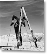 Marian Mckean With Skis Metal Print