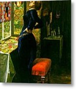 Mariana In The Moated Grange 1851 Metal Print