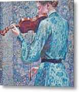 Marie Anne Weber Playing The Violin  Metal Print