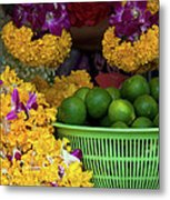 Marigolds And Limes Metal Print