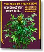 Marijuana Poster Metal Print