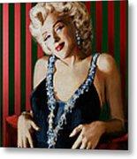 Marilyn 126 D Stripes Metal Print