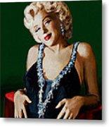 Marilyn 126 Green Metal Print