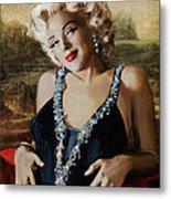 Marilyn 126 Mona Lisa Metal Print