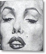 Marilyn Closeup Metal Print
