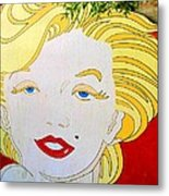 Marilyn Metal Print by Ethna Gillespie