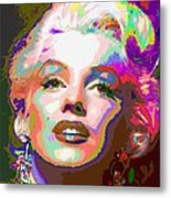 Marilyn Monroe 01 - Abstarct Metal Print