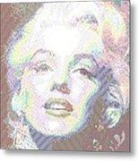 Marilyn Monroe 01 - Parallel Hatching Metal Print