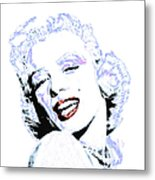 Marilyn Monroe 20130331 Square Metal Print